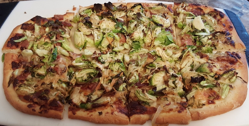 Bacon Brussel Sprout Pizza